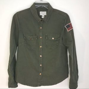 Forever 21 Green Button Down